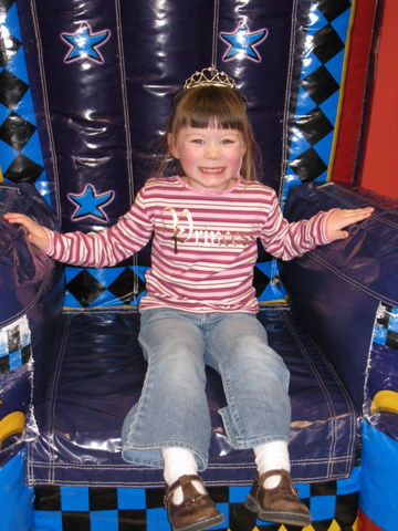 Her Highness on the inflatable throne