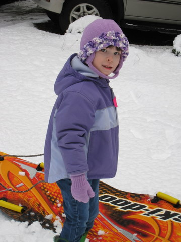 Ane wants to pull the sled