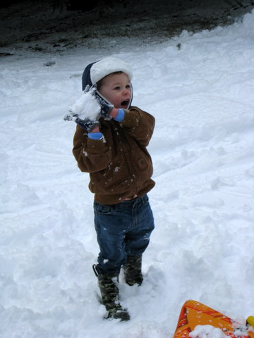 Beware the boy with the snowball!