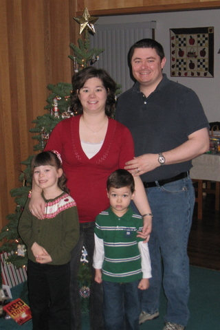 Our family, Christmas Day 2009