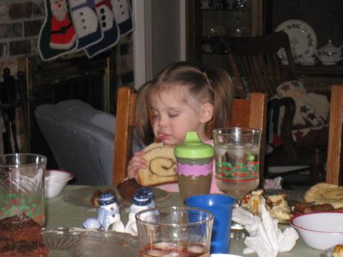 Eating is tiring work!