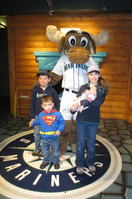The kids visit the Moose