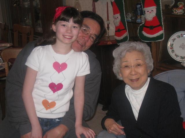 Ane, Gichan, and Obachan, Christmas 2012