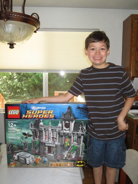 Tad and his LEGO set