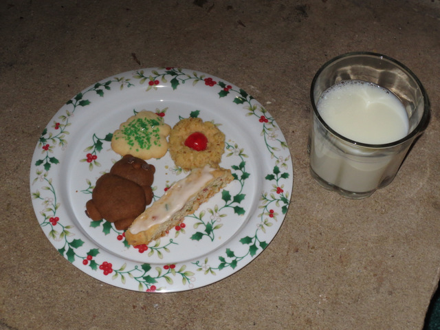 Cookies and milk for Santa