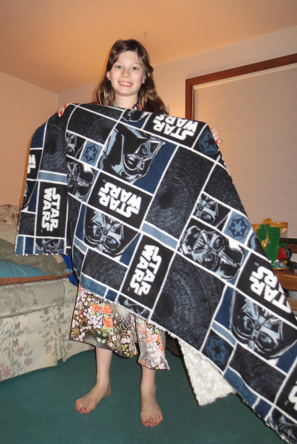 Ane with her Star Wars blanket