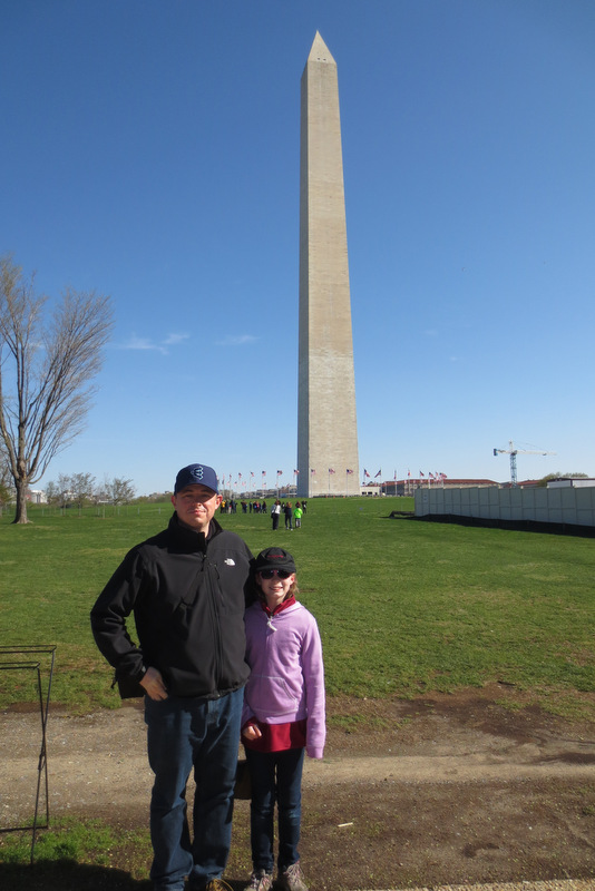 The Webmaster and Ane at the Washington Monument