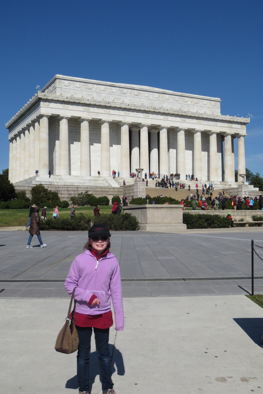 Ane and the Lincoln Memorial