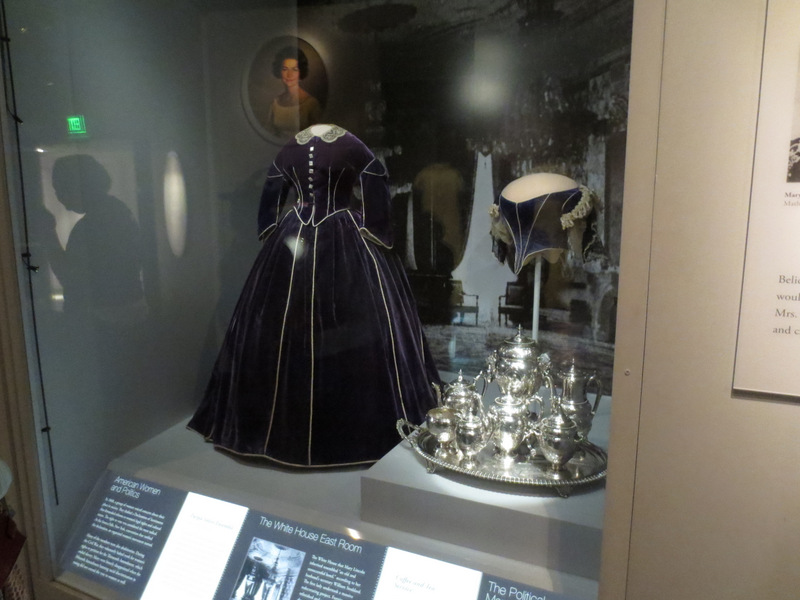 Mary Todd Lincoln's dress and silver tea service