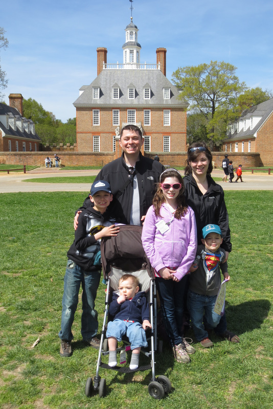 Our family in Colonial Williamsburg