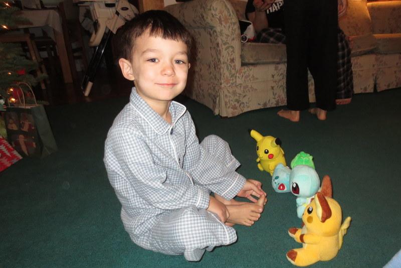 Rerun with his little plush Pokemon