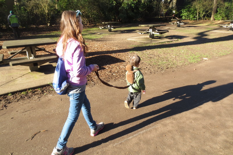 """Ane """"walks"""" her brother"""