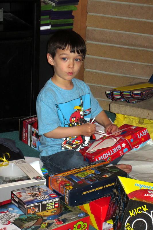 Rerun opens his presents