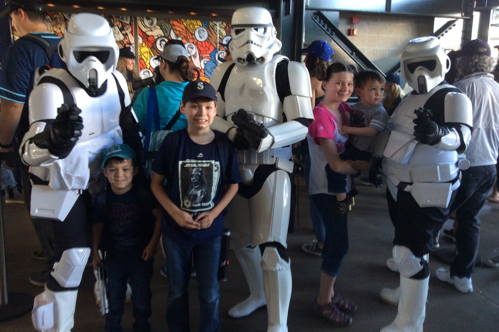 The kids with the stormtroopers