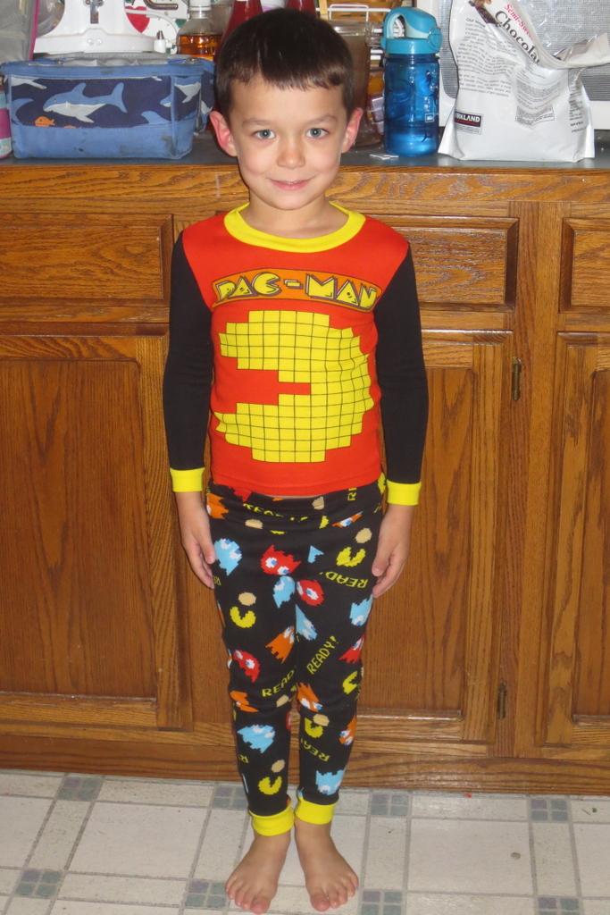 Rerun's Pac-Man jammies