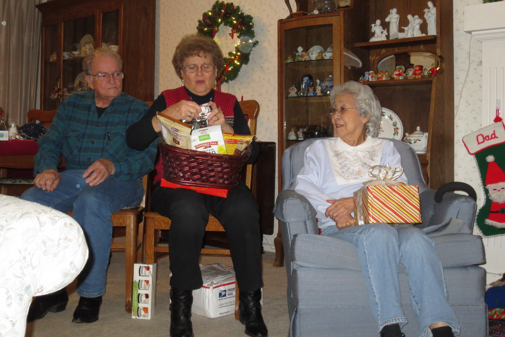 Christmas evening with the great-grandparents