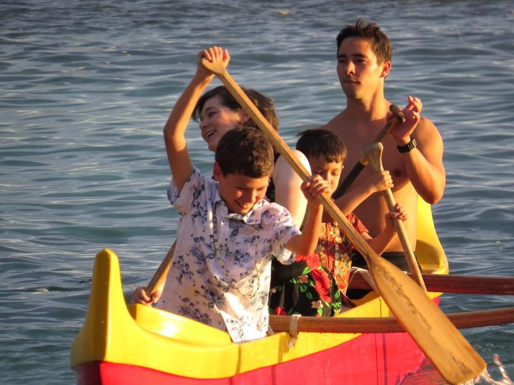 Oars go IN the water