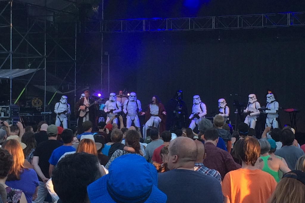 Weird Al with Vader and Stormtroopers