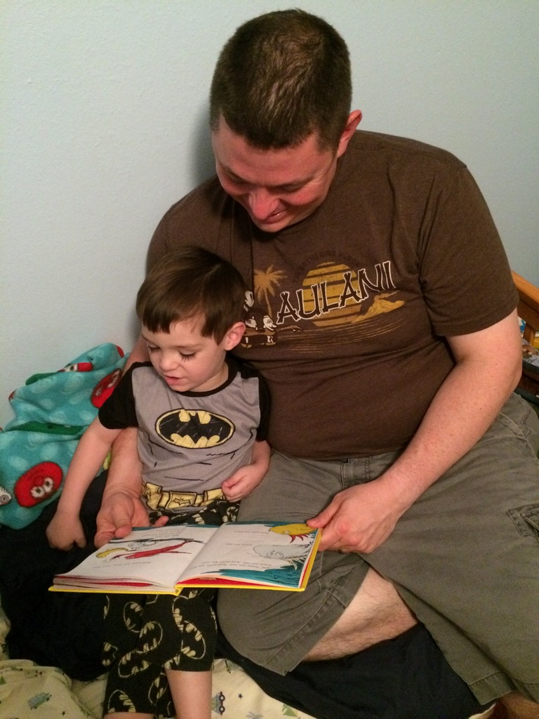 Thumper reads to Daddy