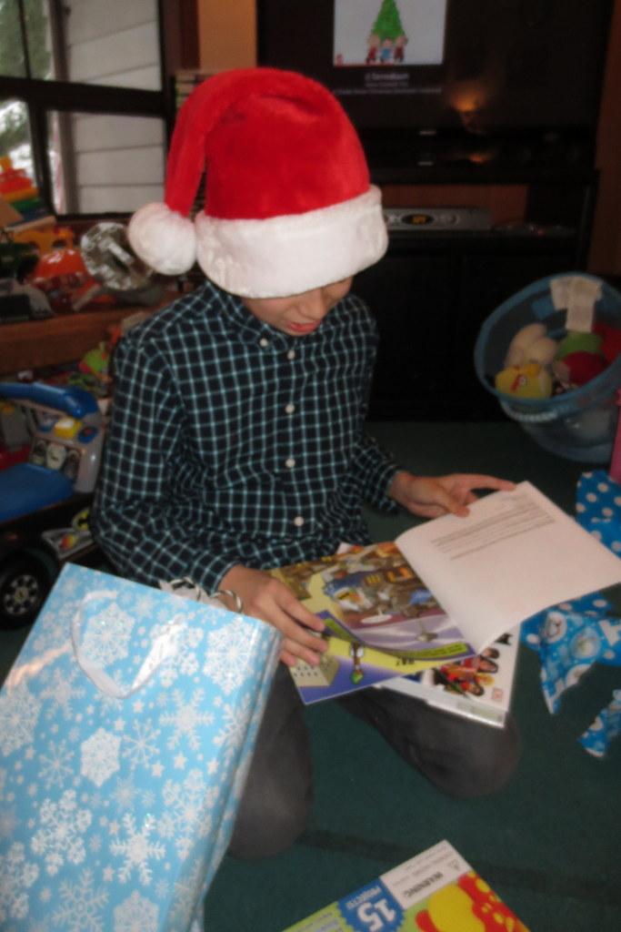 Tad gets books