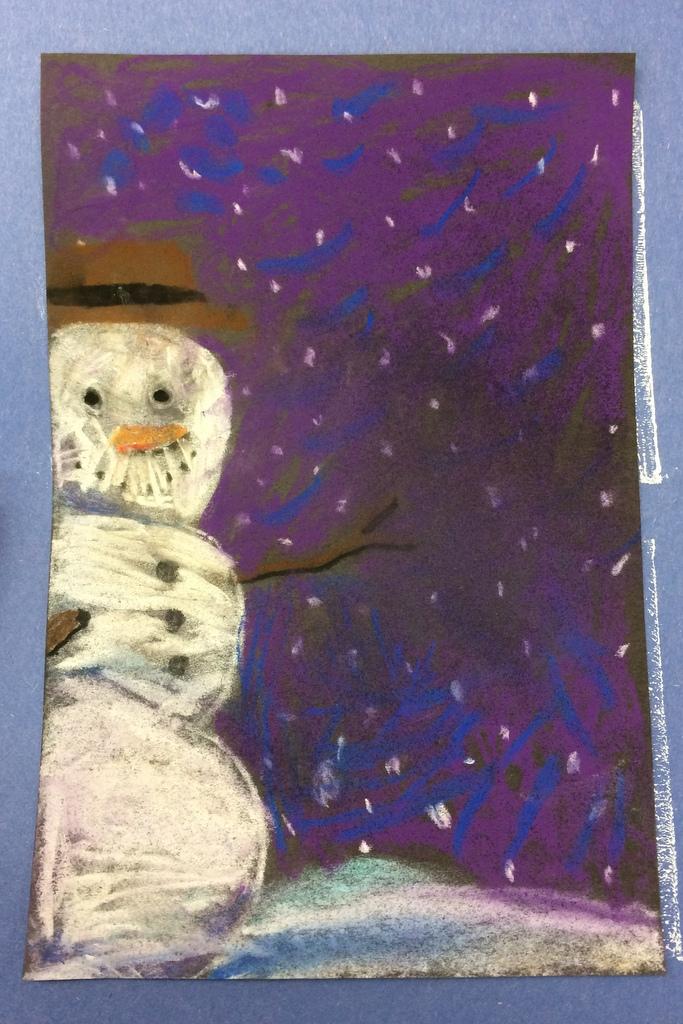 Snowman up close
