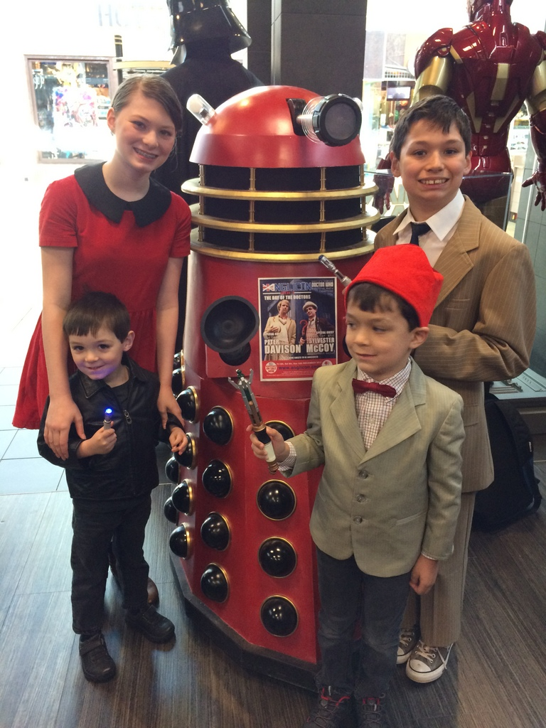 Group picture with a Dalek