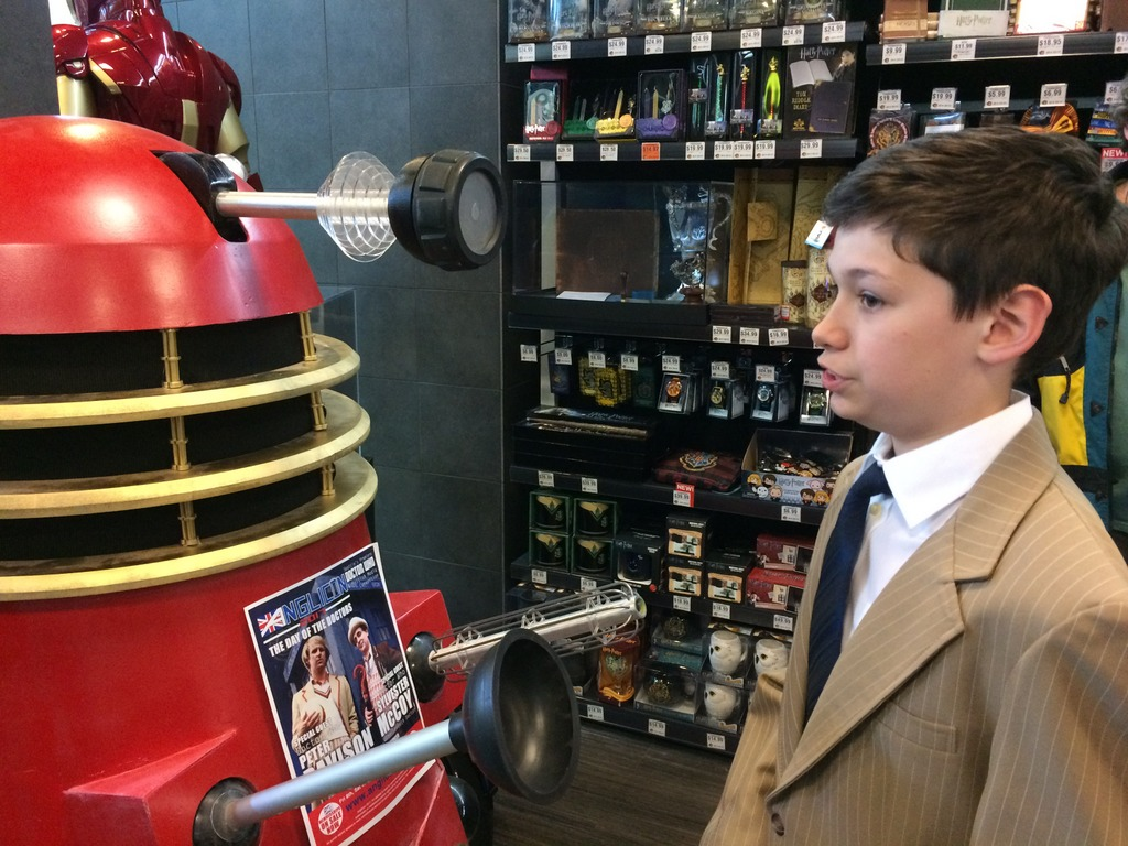 Doctor Tad confronts the Dalek